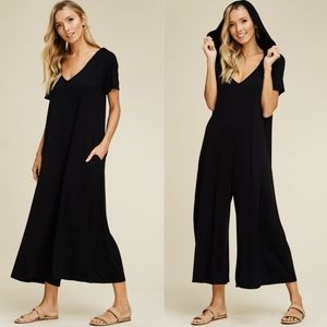IVY Wide Leg Jumpsuit - BLACK